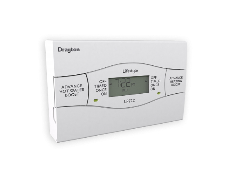 drayton lp722 central heating and hot water 7 day 2 channel digital ...